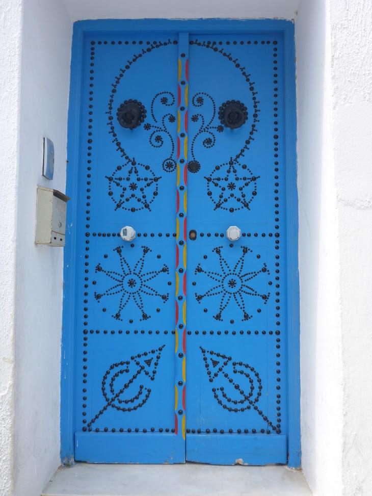 Porta em Sidi Bou Said, Tunes, Tunisia © Viaje Comigo