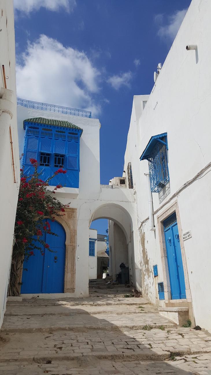 Ruelas de Sidi Bou Said, Tunísia © Viaje Comigo