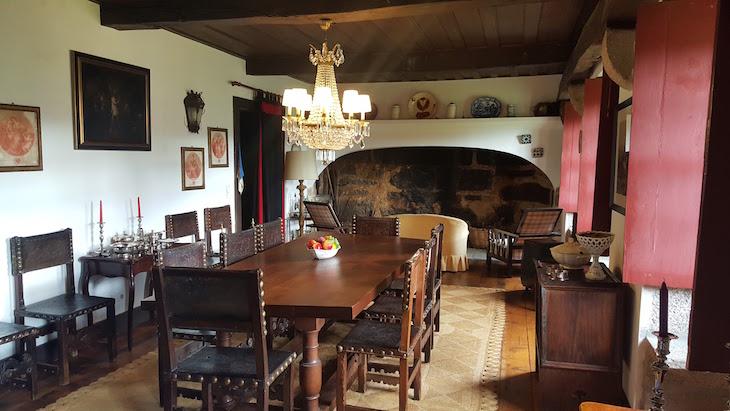 Sala de jantar no Paço de Pombeiro Felgueiras © Viaje Comigo