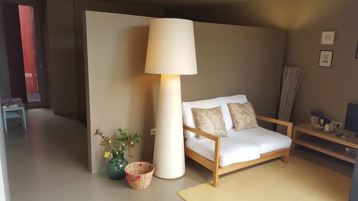 Sala do quarto moderno no Paço de Pombeiro Felgueiras © Viaje Comigo