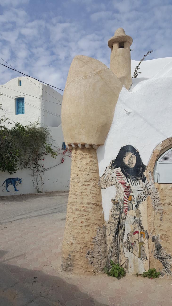 Artista: Swoon - EUA, Djerbahood, Erriadh, Djerba, Tunisia © Viaje Comigo