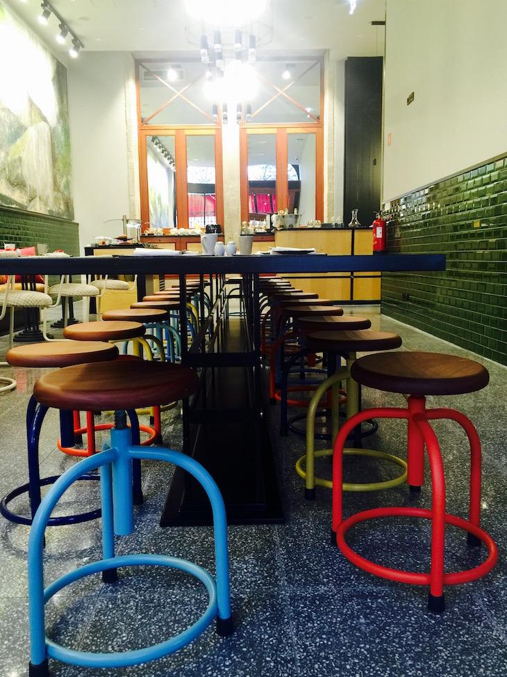 Sala do pequeno-almoço do The House Ribeira Porto © Viaje Comigo