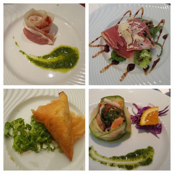 Entradas no buffet do Club Med Gregolimano - Grécia © Viaje Comigo