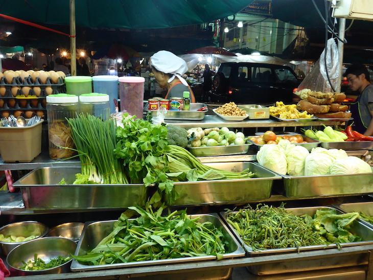 Legumes frescos em Banguecoque, Tailândia © Viaje Comigo