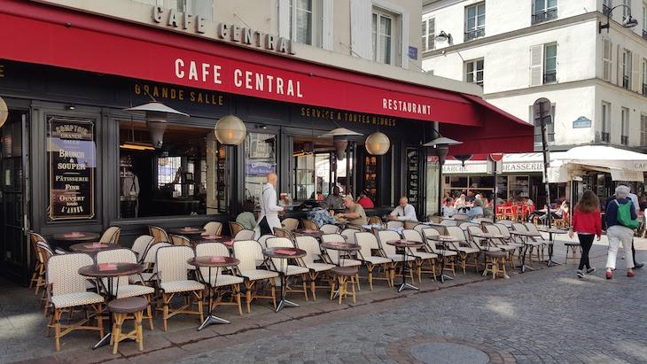 Esplanada Cafe Central na Rua Cler, Paris © Viaje Comigo