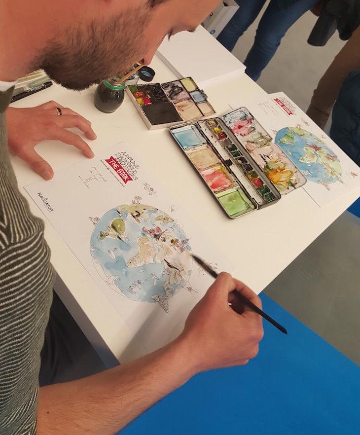 Ilustrador Mário Linhares do livro Navigator © Viaje Comigo