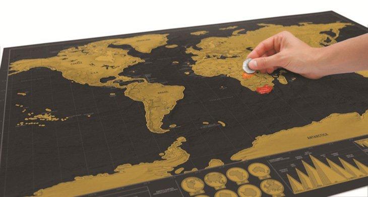 Mapa mundo para riscar países visitados