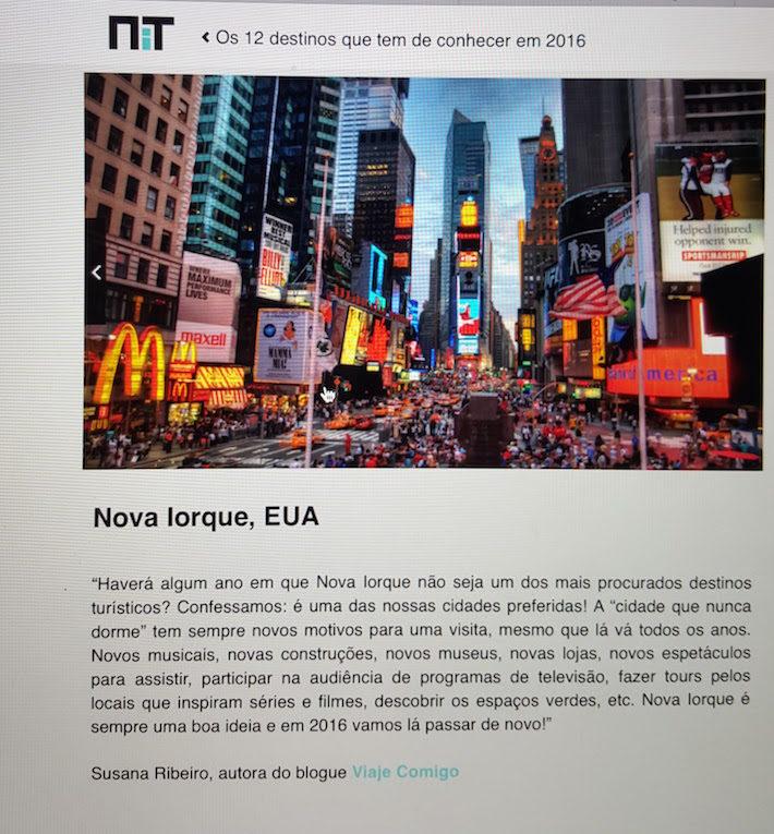 NIT Susana Ribeiro - Nova Iorque