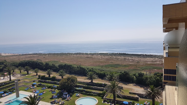 Praia vista do Hotel Solverde © Viaje Comigo