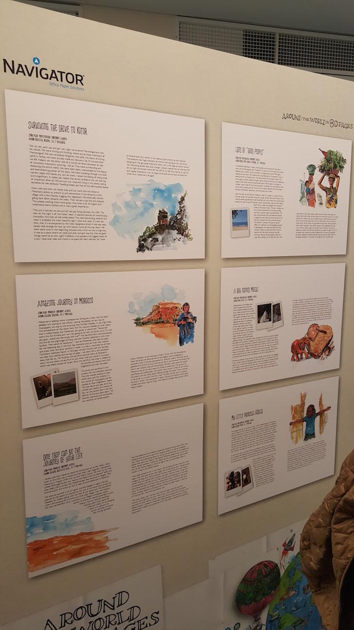 Textos em exposição no CCB © Viaje Comigo