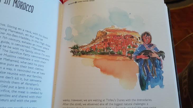 Ilustração Marrocos no livro Navigator © Viaje Comigo