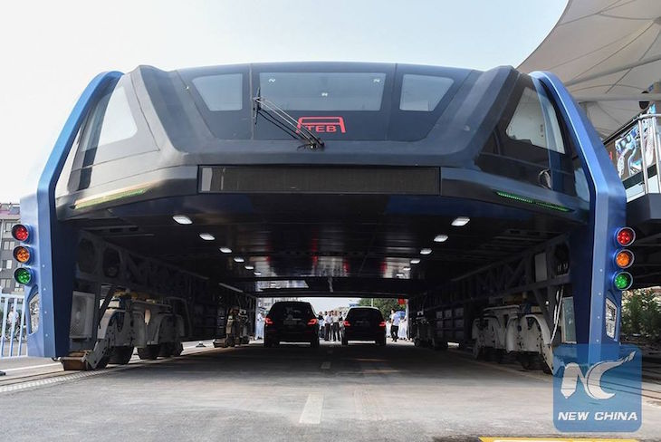 Transit Elevated Bus- TEB -New China