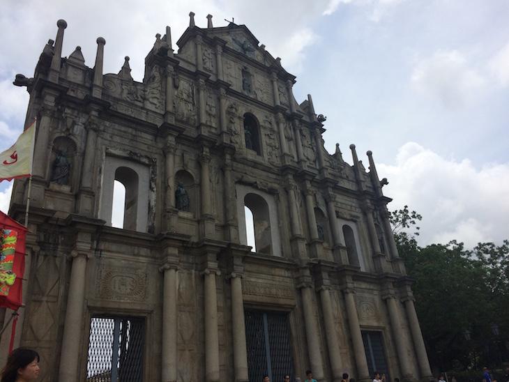 Pormenores das Fachada das Ruínas de São Paulo, Macau © Viaje Comigo®