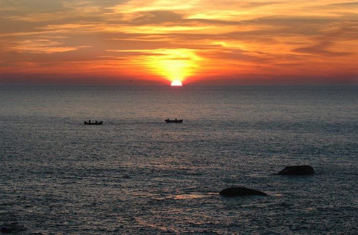 Pôr-do-sol em Lavadores © Maria Oswalda Rego