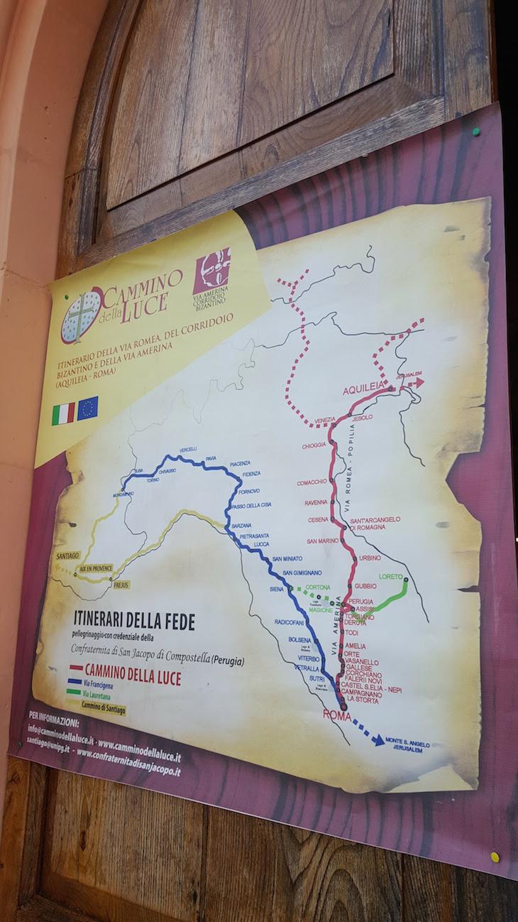 Mapa da Fé - Via Amerina - Italian Wonder Ways © Viaje Comigo
