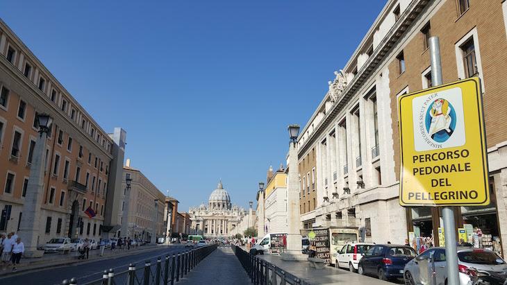 Percurso pedonal para peregrinos, Vaticano © Viaje Comigo
