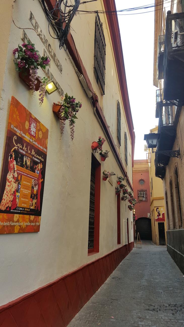 Rua ao lado da Casa de la Memoria - Sevilha © Viaje Comigo