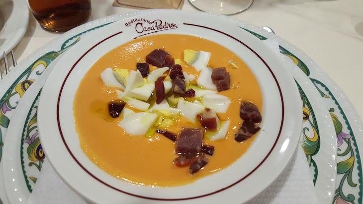 Salmorejo do Restaurante Pedro em Puente Genil © Viaje Comigo