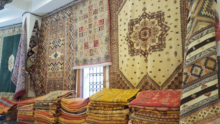 Jag – Galeria Tradicional - Compras em Tânger - Marrocos © Viaje Comigo