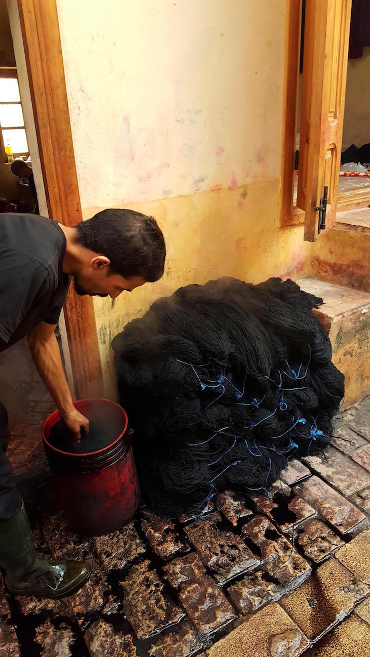 Tinturarias de Fez - Marrocos @ Viaje Comigo