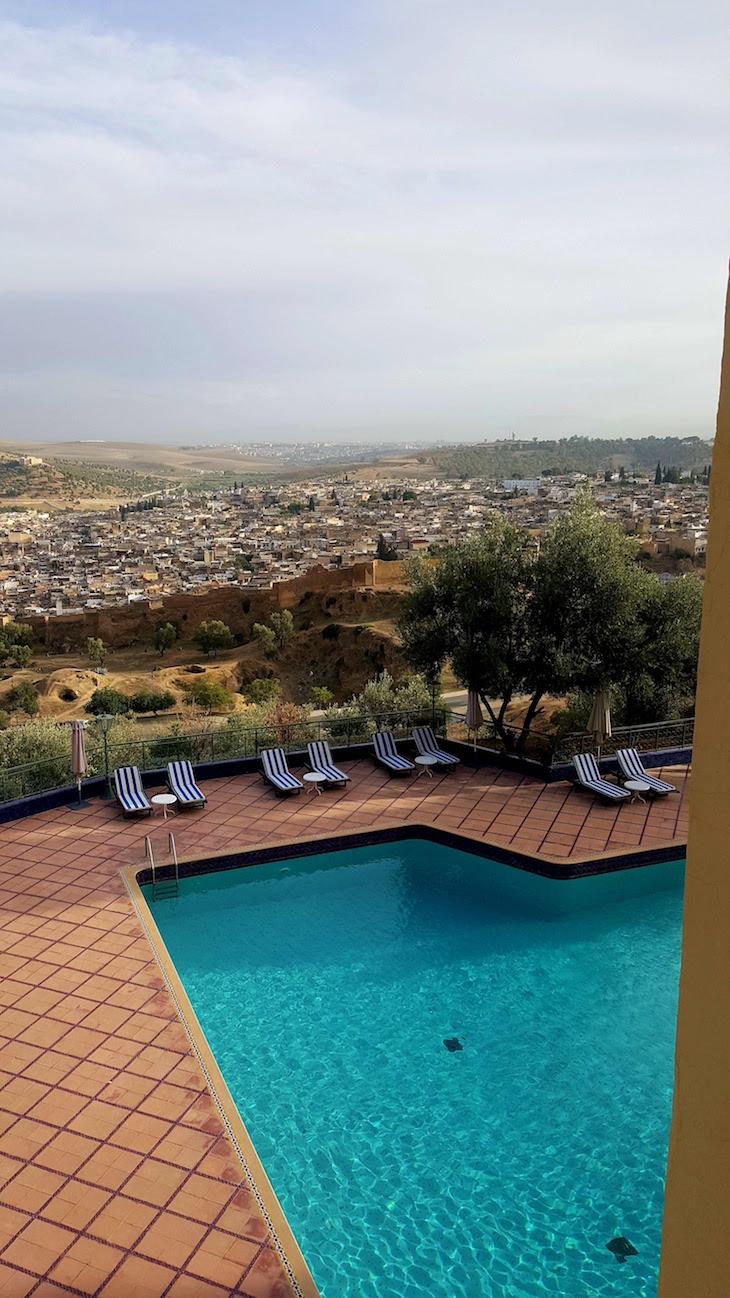 Piscina do Hôtel Les Mérinides - Fez - Marrocos © Viaje Comigo