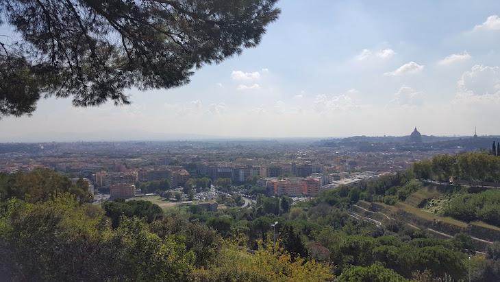 Vista da Reserva Natural do Monte Mario - Roma © Viaje Comigo