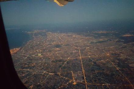 Vista do avião - Casablanca - Marrocos © Viaje Comigo