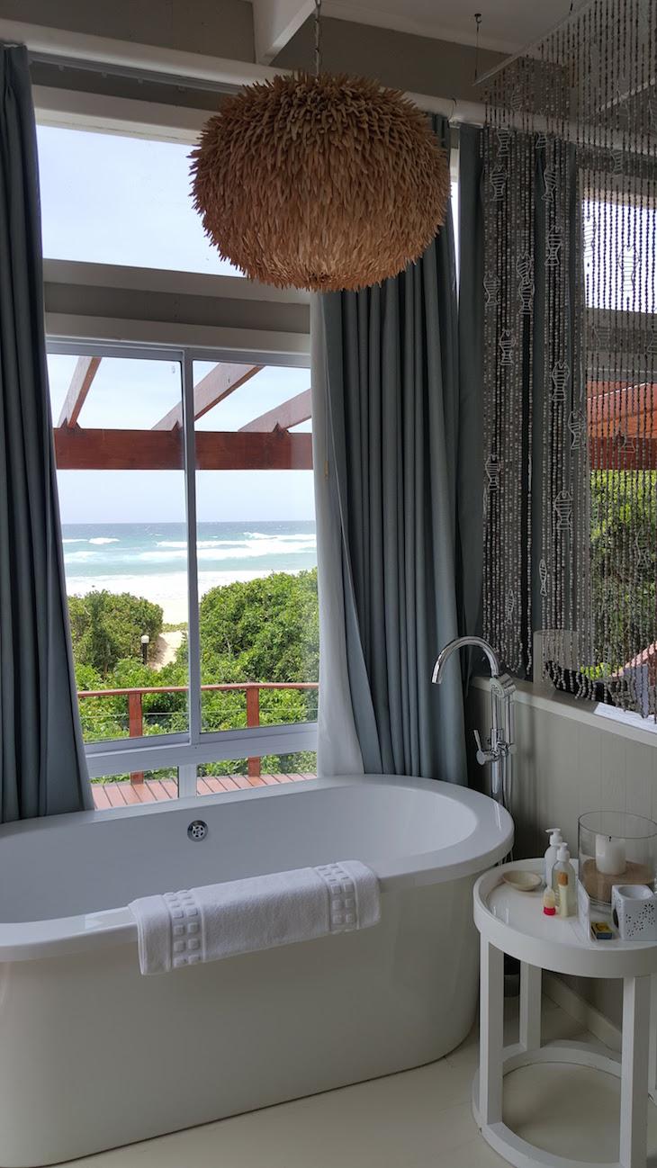 Banheira na suite no White Pearl - Ponta Mamoli - Moçambique © Viaje Comigo