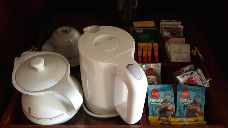 Cortesia de chá e café no Polana Serena Hotel, Maputo © Viaje Comigo
