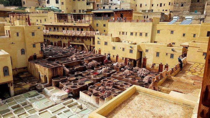 Curtumes em Fez, Marrocos © Viaje Comigo