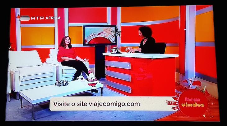 Susana Ribeiro na RTP Africa © Viaje Comigo