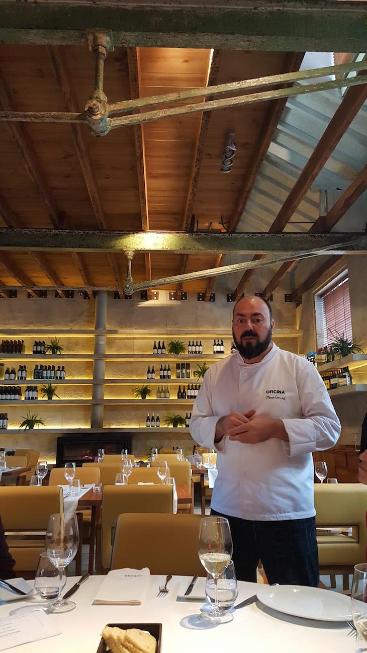 Chef Marco Gomes no Restaurante Oficina © Viaje Comigo