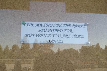 Frase de Jeanne C Stein - Universal - Los Angeles © Viaje Comigo