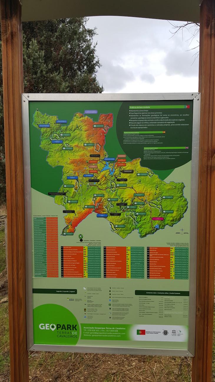 Mapa Geopark Terras de Cavaleiros - Macedo de Cavaleiros © Viaje Comigo