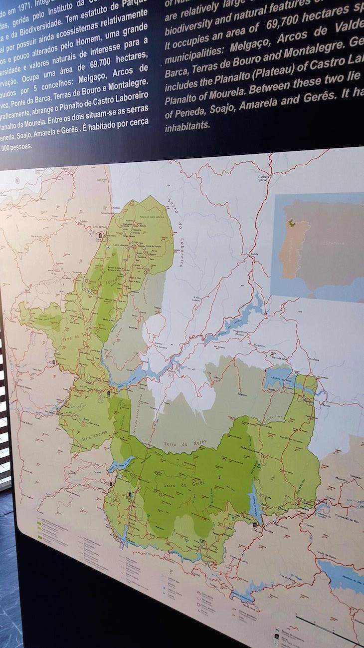 Mapa do Parque Nacional Peneda Gerês © Viaje Comigo