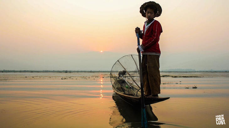 Pescador no Lago Inle © The Wanderlust