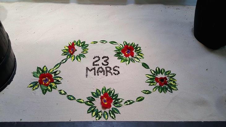 Todos os dias muda a data e a decoração - Coin de Mire Attitude Hotel, Ilha Maurícia © Viaje Comigo