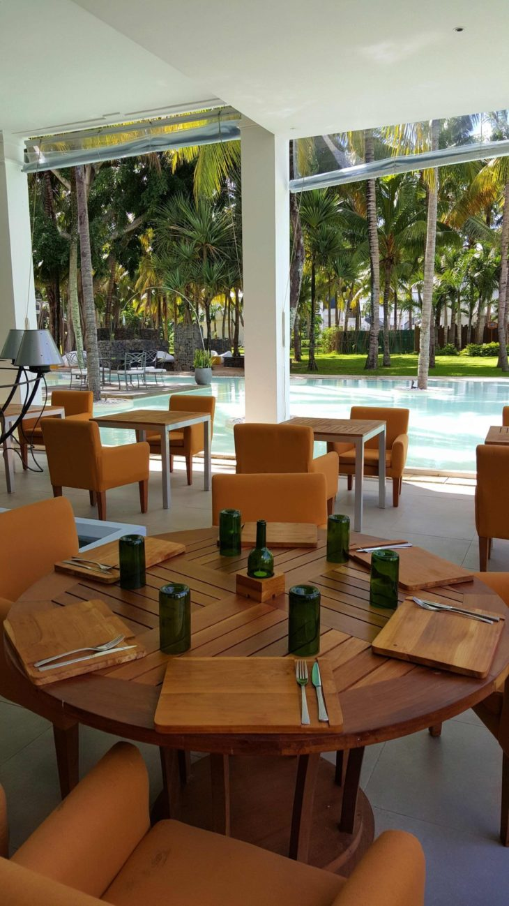 Restaurante do Hotel Ravenala Attitude - Ilhas Maurícias © Viaje Comigo