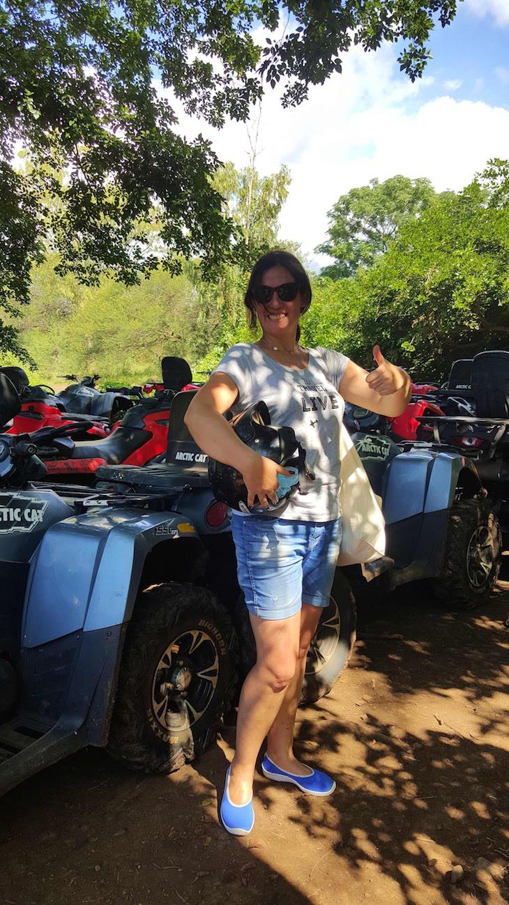 Susana Ribeiro no Casela World of Adventures - Ilhas Maurícias © Viaje Comigo