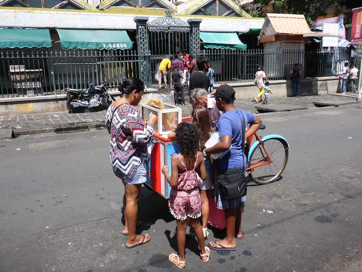 Venda de gelados - Port Louis - Ilhas Maurícias © Viaje Comigo