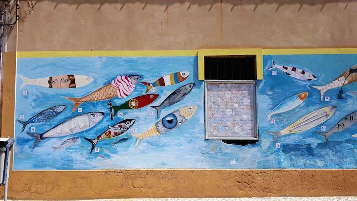 Mural de Sardinhas em Portimão © Viaje Comigo