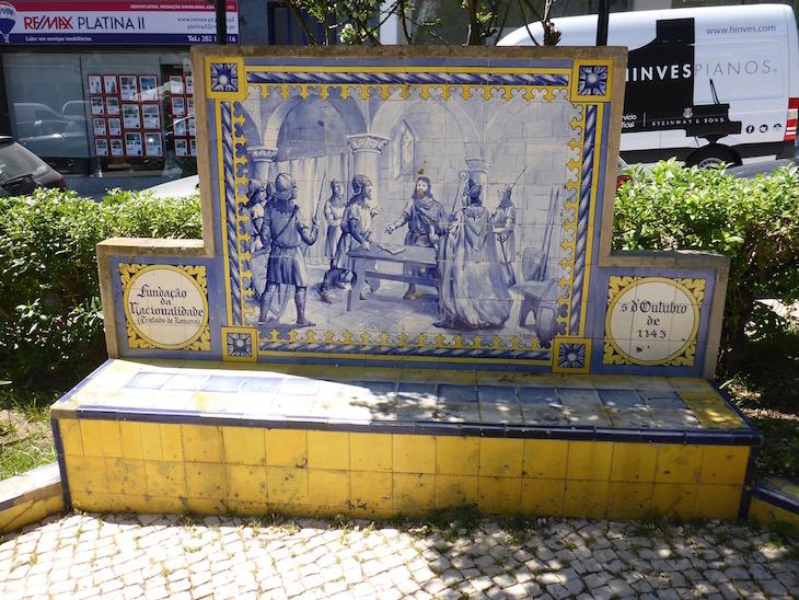 A Fundação da Nacionalidade (Tratado de Zamora) (5 de outubro de 1143) - Jardim 1º Dezembro em Portimão © Viaje Comigo