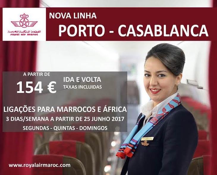 Royal Air Maroc voa direta do Porto para Casablanca