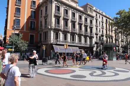 Mosaico de Miró em Barcelona © Viaje Comigo