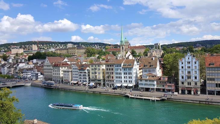 Vista do Lindenhof - Zurique - Suiça © Viaje Comigo