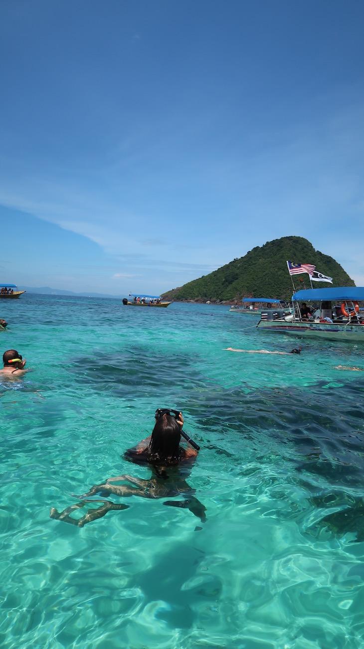 Snorkeling nas Ilhas Perhentian - Malásia © Viaje Comigo