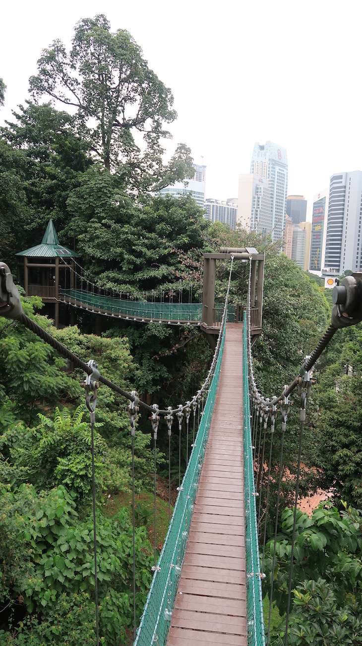 Pontes suspensas no Eko Rimba - Kuala Lumpur - Malásia © Viaje Comigo