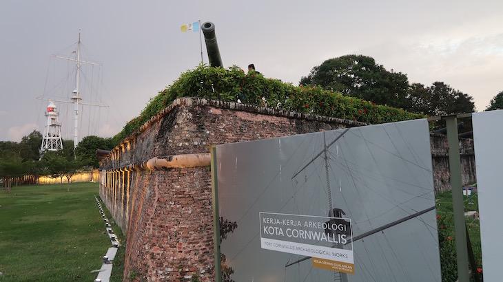 No Forte Cornwallis, George Town, Penang, Malásia © Viaje Comigo