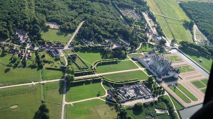 Château de Chambord - Voo com a Loisirs Loire Valley © Viaje Comigo
