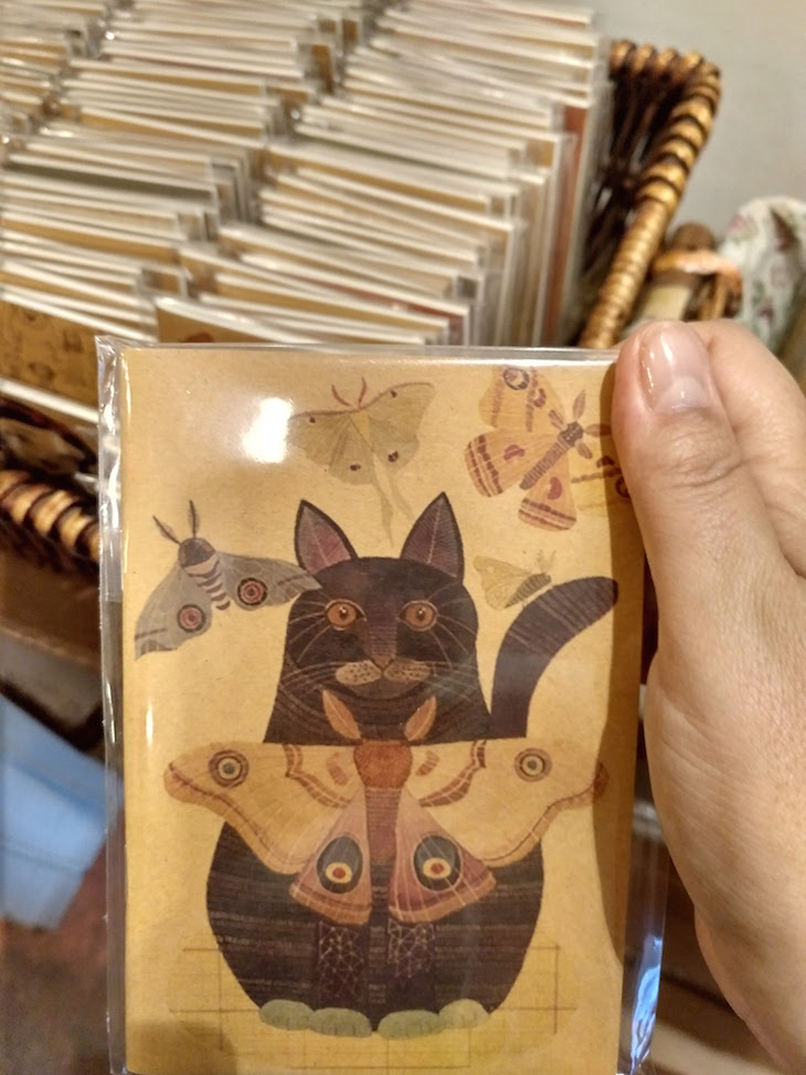 Livrinho no The Heritage Cat, George Town, Penang, Malásia © Viaje Comigo